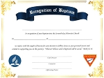 Pathfinder Baptismal - 2020 TOTALLY NEW REDESIGNED CERTIFICATES!
